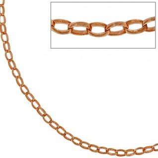Ankerkette 925 Silber rotgold vergoldet 70 cm Kette Halskette Karabiner - Vorschau 1