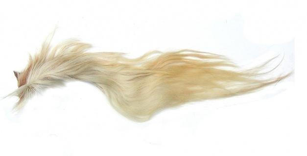 Pferdeschweif blond mit Sattel, ca. 90-120 cm lang, für Kostüme, Schaukelpferde