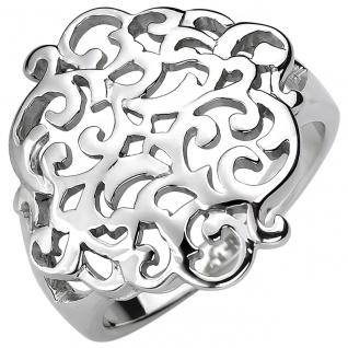 modischer Damen Ring 925er Sterling Silber ohne Steine, ca. 19, 5 mm breit, Da...