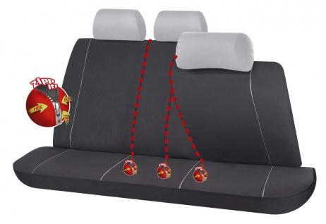 Serie Modulo ZIPP IT Polyester Autositzbezug Rücksitzbankbezug 5-teilig schwa...