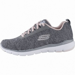 Skechers Flex Appeal 3.0 coole Damen Jersey Sneakers grey, Air-Cooled-Memory-Foam-Fußbett, 4142113/36