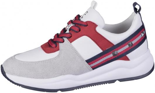 JANA Damen Leder Sneakers red, Extra Weite H, Jana Comfort Fußbett