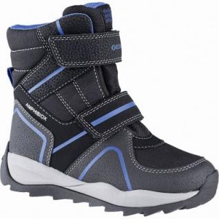 Geox Jungen Synthetik Winter Amphibiox Boots black, molliges Warmfutter, Geox Fußbett, 3741117/35