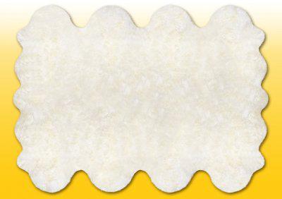 Fellteppiche naturweiß aus 8 Lammfellen, Größe ca. 185 x 235 cm, 30 Grad waschbar