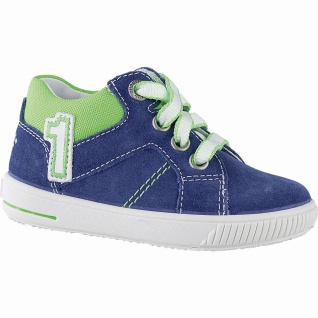 Superfit Jungen Leder Lauflern Sneakers blau, mittlere Weite, herausnehmbares...