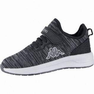 Kappa Paras ML K coole Jungen Strick Sneakers black, Kappa Fußbett, Sneaker Laufsohle, 4240107