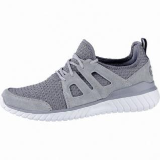 Skechers Rough cut coole Herren Leder Mesh Sneakers charcoal, Skechers Air Cooled Memory Foam-Fußbett, 4240168