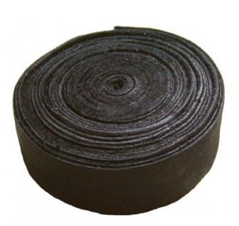 Lederband Einfassband Rindleder braun, vegetabil gegerbtes Leder, Länge 10 m, Breite 25 mm, Stärke ca. 0, 9 / 1, 1 mm