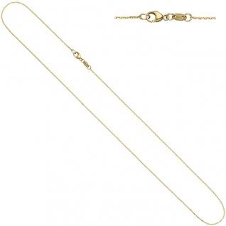 Ankerkette 585 Gelbgold diamantiert 0, 6 mm 42 cm Gold Kette Halskette Goldkette - Vorschau 2