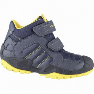 Geox Jungen Synthetik Boots navy, 6 cm Schaft, Meshfutter, Leder Fußbett, Antishokk, 3741120/31