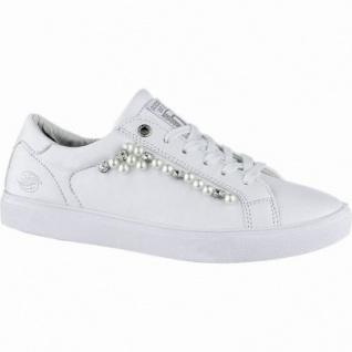 Dockers sportliche Damen Synthetik Sneakers weiss, herausnehmbares Dockers Fußbett, 1240215