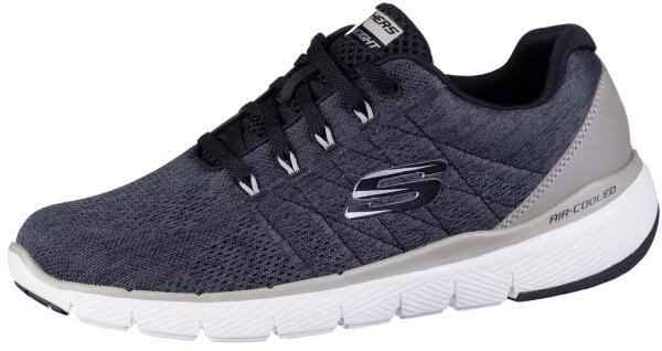 SKECHERS Flex Advantage 3.0 Herren Sneakers black, Air Cooled Memory Foam Fuß...