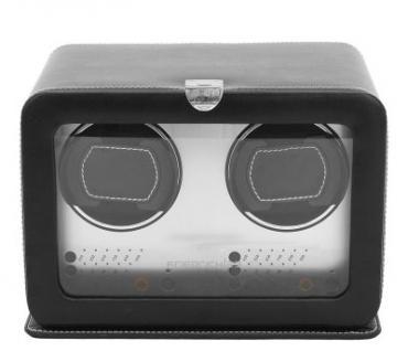 Friedrich Lederwaren Leder Uhrenbeweger für 2 Automatikuhren schwarz, Serie London, ca. 24, 5x19, 5x17, 5 cm - Vorschau 1