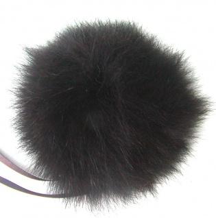 Echt Fuchsfell Fellbommeln dunkelbraun, Ø ca. 10 cm, mit Band oder Schlaufe