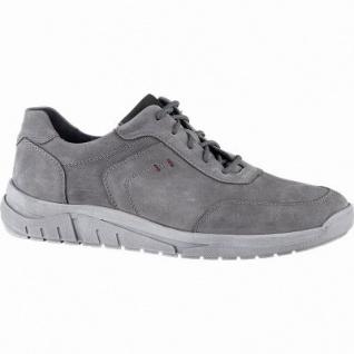 Waldläufer Hanson 12 Herren Leder Sneakers grau, Herren Extra Weite, herausnehmbares Leder Fußbett, 2242107/7.5
