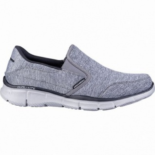 Skechers coole Herren Jersey Slipper charcoal, Air-Cooled Memory Foam-Fußbett, 4242111/39