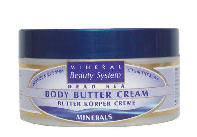 Mineral Beauty System Körper Butter Creme, mit Shea Butter, Aloe Vera Gel, feuchtigkeitsspendend, 250 ml=59, 60 EUR/1 L