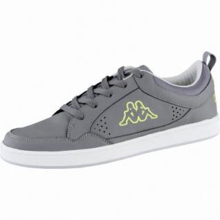 Kappa Forward Low modische Herren Mesh Synthetik Sneakers anthrazit lime, Kappa Fußbett, 4239101/42