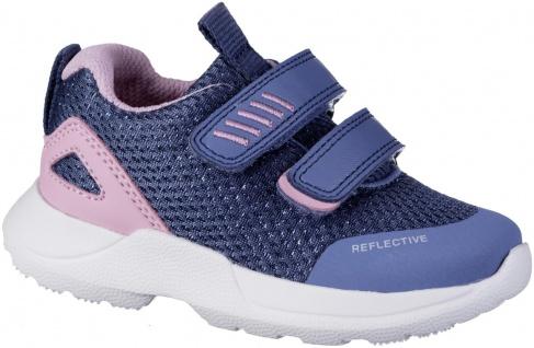 SUPERFIT Mädchen Synthetik Lauflern Sneakers blau, mittlere Weite, Meshfutter
