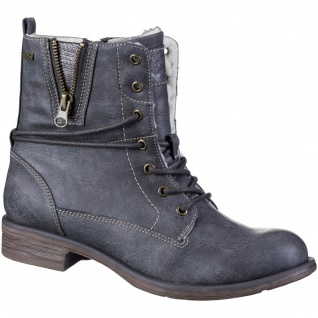 JANE KLAIN Damen Synthetik Stiefeletten dark grey, molliges Warmfutter, Tex A...