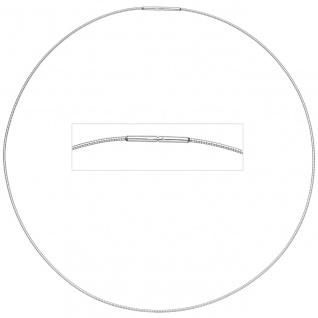Halsreif Edelstahl 1, 0 mm 42 cm Halskette Kette - Vorschau 2