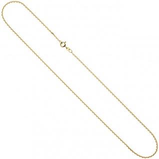 Ankerkette 585 Gelbgold 1, 2 mm 45 cm Gold Kette Halskette Goldkette Federring