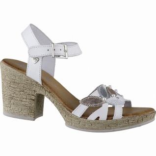 BLK Blackstone stylishe Damen Leder Sandaletten white, gepolsterte Leder Deck...