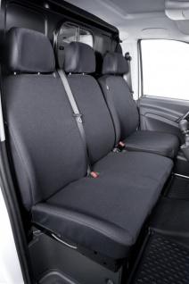 Passform Sitzbezüge Mercedes Viano W639, passgenauer Stoff Sitzbezug Einzelsitz+Doppelbank, Bj. 06/2003-05/2014