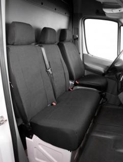 Passform Transporter Sitzbezüge Mercedes Sprinter, passgenauer Stoff Sitzbezug Einzelsitz+Doppelbank, Bj. 01/1996-04/2006