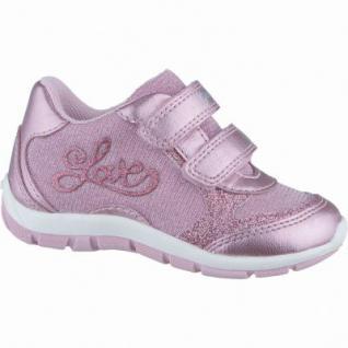 Geox Mädchen Synthetik Lauflern Halbschuhe pink, Geox Leder Fußbett, 3038106/27
