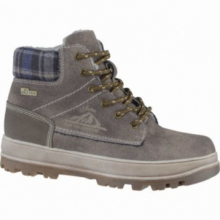 s.Oliver coole Jungen Leder Imitat Winter Tex Boots pepper, Warmfutter, Soft-Foam-Fußbett, 3739226