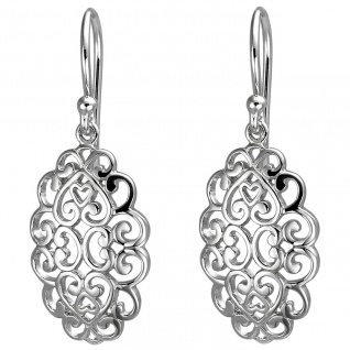 Damen Brisur Ohrhänger 925er Sterling Silber, anlaufgeschützt, Ohrhaken, Silb...