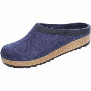 Haflinger Grizzly Torben Damen, Herren Wollfilz Hausschuhe Clogs jeans, Kork-Latex-Fußbett, 1929114