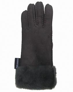 weiche und warme Damen Winter Fell Finger Handschuhe grau, flauschige Pelzman...