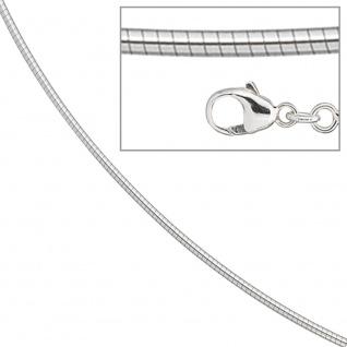 Halsreif 585 Weißgold 1, 1 mm 50 cm Gold Kette Halskette Weißgoldhalsreif