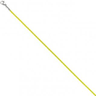 Rundankerkette Edelstahl gelb lackiert 42 cm Kette Halskette Karabiner