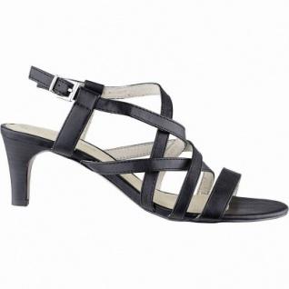 s.Oliver chice Damen Leder Imitat Sandaletten black, weiche Soft Foam Decksohle, 1442234/36