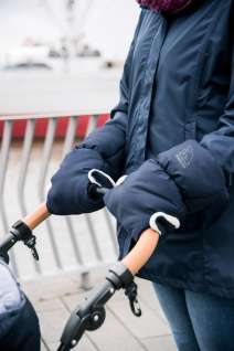 Heitmann Felle warmer Kinderwagen Handwärmer blau meliert, Innenfleece, Kinde...