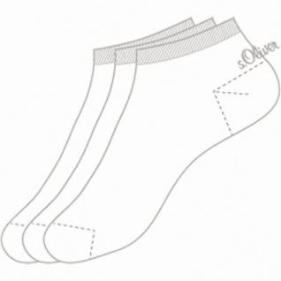 s.Oliver Classic NOS Unisex Sneaker weiß, 3er Pack Damen, Herren Sneaker Socken, 6533111/43-46 - Vorschau 2