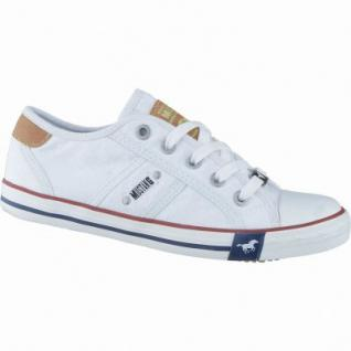 Mustang coole Mädchen Canvas Sneakers Low weiß, Mustang-Laufsohle, 3338118/31