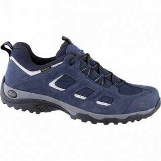 Jack Wolfskin Vojo Hike 2 Texapore Low Men Herren Leder Mesh Outdoor Schuh night blue, Trekking Laufsohle, 4442156/6.5