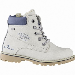 TOM TAILOR Mädchen Winter Leder Imitat Tex Boots ice, 10 cm Schaft, Warmfutter, warmes Fußbett, 3741158/37
