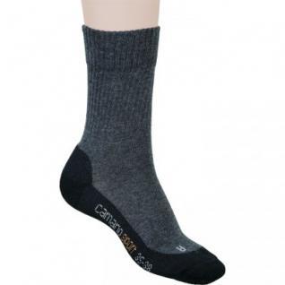 Camano Children Sport Socks NOS anthrazit, 2er Pack Socken, Komfortbund ohne Gummidruck, 6533127/27-30