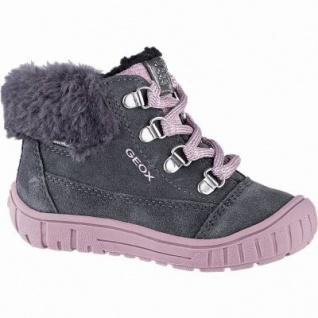 Geox Mädchen Winter Leder Boots grey, 6 cm Schaft, wasserfest, chromfrei, leichtes Warmfutter, 3241102