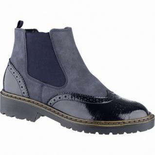 Jenny Portland-ST modische Damen Synthetik Boots blau, Comfort Weite G, Warmfutter, Jenny Fußbett, 1739141