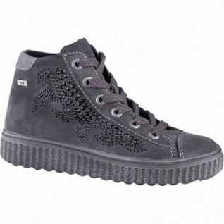 Lurchi Navina warme Mädchen Leder Tex Sneakers charcoal, mittlere Wetie, angerautes Futter, Fußbett, 3741180/37