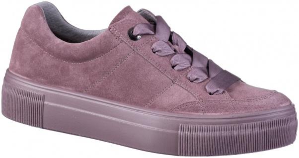 LEGERO Damen Leder Sneakers purple, Comfort Weite G, Legero Leder Fußbett