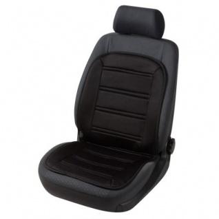 weiches Polyester Jersey Aut Sitzheizkissen schwarz mit Regelschalter. Heizfunktion Sitzfläche+Rückenlehne, für alle Fahrzeuge