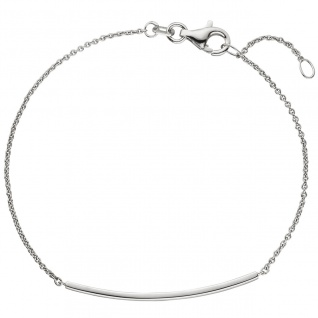 Armband 585 Gold Weißgold 18 cm Weißgoldarmband