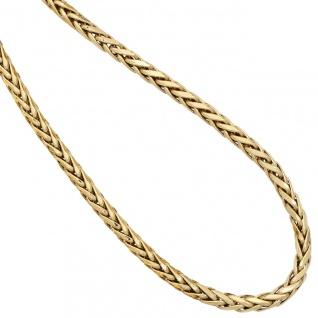 Zopfkette 585 Gelbgold 2, 6 mm 45 cm Gold Kette Halskette Goldkette Karabiner